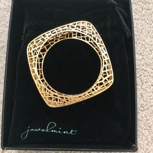 jewelmint gold plated birdcage bangle